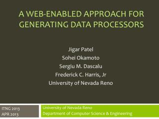 A Web-enabled Approach for generating data processors
