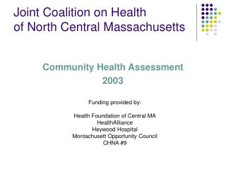 Joint Coalition on Health  of North Central Massachusetts