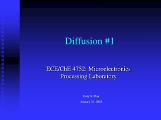 Diffusion 1