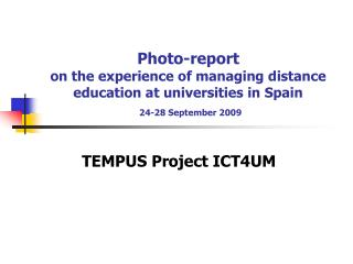 TEMPUS Project ICT4UM
