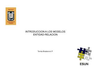 INTRODUCCION A LOS MODELOS ENTIDAD-RELACION Tomás Bradanovic P.