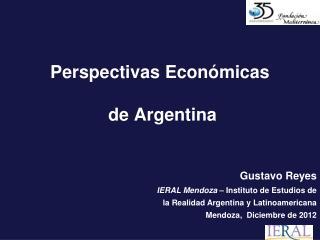 Perspectivas Económicas  de Argentina