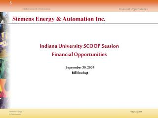 Siemens Energy & Automation Facts