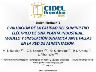 EVALUACIÓN DE LA CALIDAD DEL SUMINISTRO  ELÉCTRICO DE UNA PLANTA INDUSTRIAL.