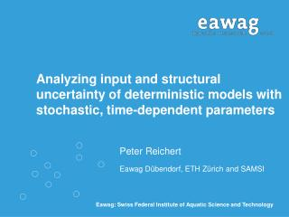 Analyzing input and structural uncertainty of deterministic models with stochastic, time-dependent parameters