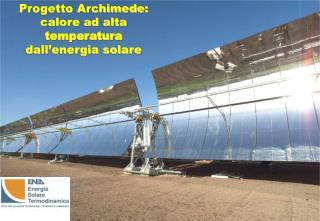 Progetto Archimede: calore ad alta  temperatura  dall'energia solare