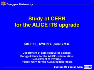 Study of CERN  for the ALICE ITS upgrade