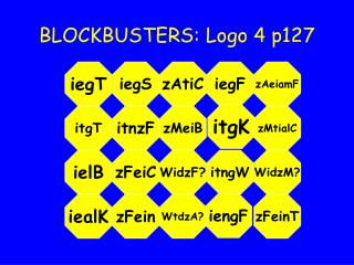BLOCKBUSTERS: Logo 4 p127