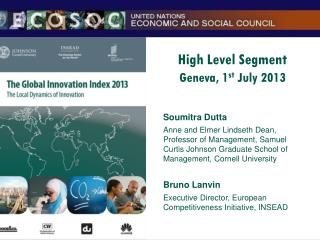 High Level Segment Geneva, 1 st  July 2013