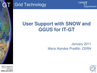 User Support with SNOW and GGUS for IT-GT