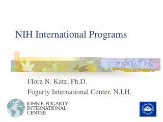 NIH International Programs
