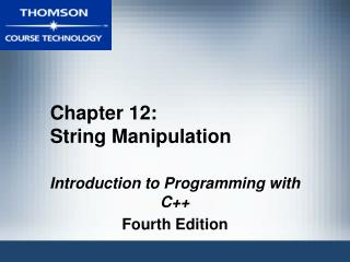 Chapter 12: String Manipulation