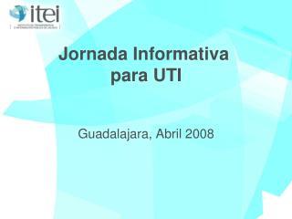 Jornada Informativa  para UTI