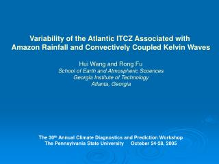 Variability of the Atlantic ITCZ Associated with