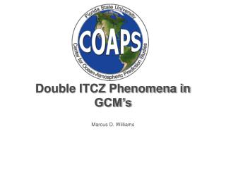Double ITCZ Phenomena in GCM's