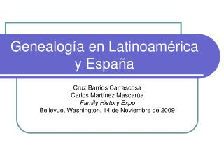 Genealog a en Latinoam rica y Espa a