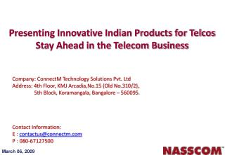 Presenting Innovative Indian Products for Telcos Stay Ahead in the Telecom Business