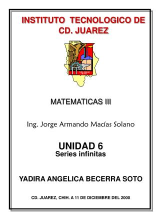INSTITUTO  TECNOLOGICO DE CD. JUAREZ