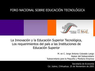 La Innovación y la Educación Superior Tecnológica,