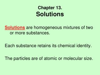 Chapter 13. Solutions