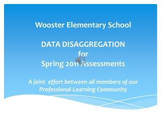 Wooster Kindergarten  SAT 10/ITBS