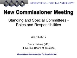 Standing and Special Committees - Roles and Responsibilities