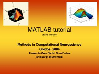 MATLAB tutorial online version
