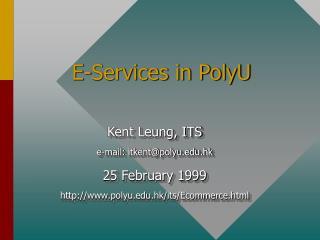 E-Services in PolyU