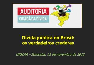 UFSCAR - Sorocaba, 12  de  novembro de  2012