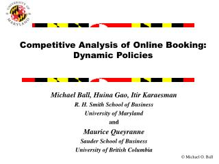 Competitive Analysis of Online Booking:  Dynamic Policies