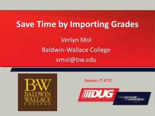 Save Time by Importing Grades
