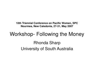 Rhonda Sharp University of South Australia
