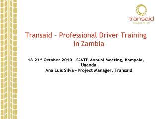 Transaid – Professional Driver Training in Zambia