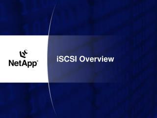 iSCSI Overview