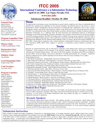 ITCC 2005 International Conference o n Information Technology