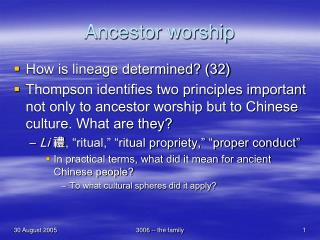 Ancestor worship