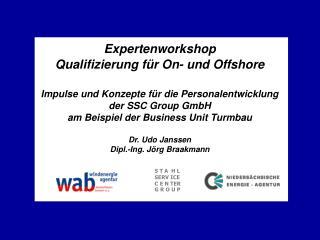 Expertenworkshop  Qualifizierung für On- und Offshore