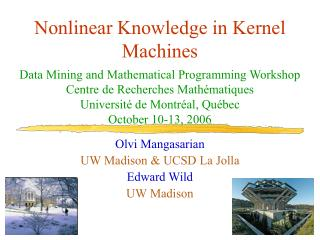 Nonlinear Knowledge in Kernel Machines