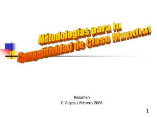 Resumen P. Reyes