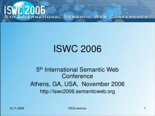 ISWC 2006