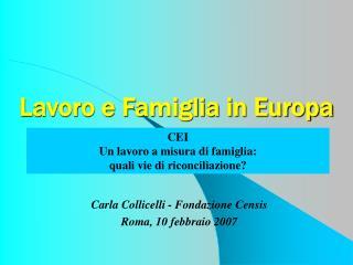 Lavoro e Famiglia in Europa