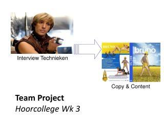 Team Project Hoorcollege Wk 3