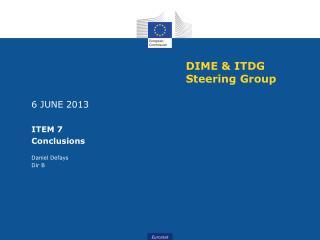DIME & ITDG Steering Group