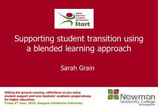 Supporting student transition using a blended learning approach