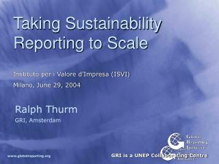 Taking Sustainability Reporting to Scale