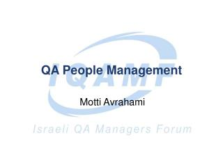 QA People Management