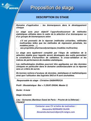 Proposition de stage