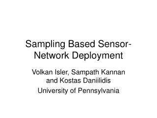 Sampling Based Sensor-Network Deployment