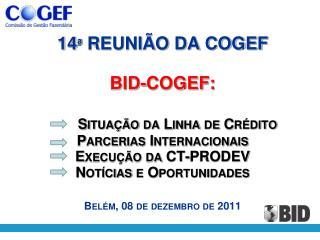 SITUAÇÃO DA LINHA DE CREDITO PROFISCO (BR-X1045)