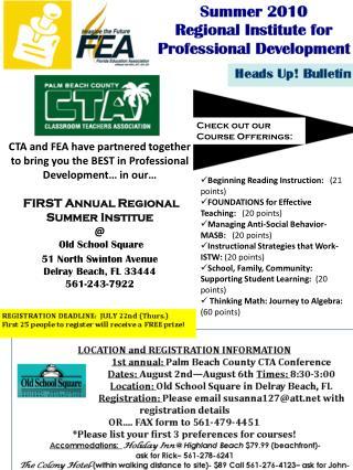 Heads Up! Bulletin